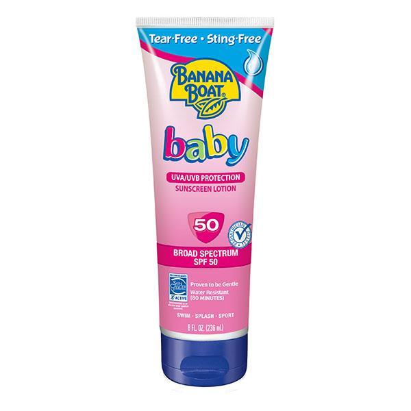 Banana Boat Baby Sunscreen Tear & Sting-Free Lotion – SPF 50, 8 Oz