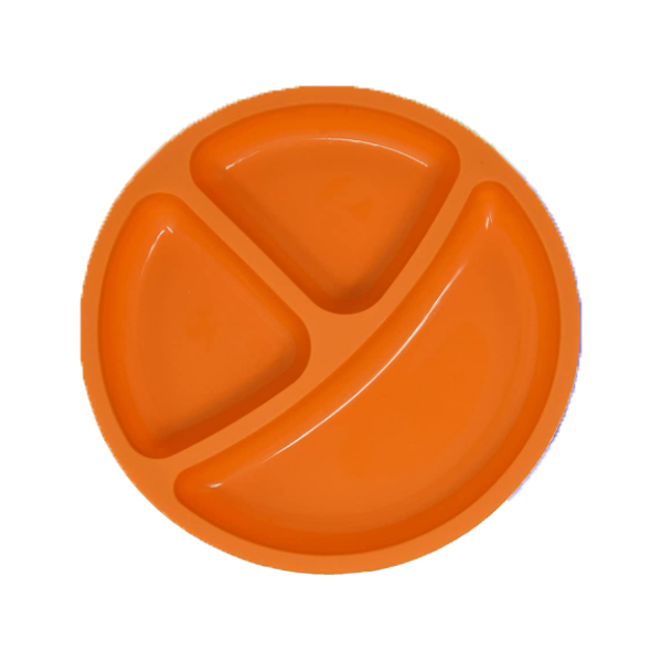 Silicone Divided Baby Plates | Non-Toxic, Orange