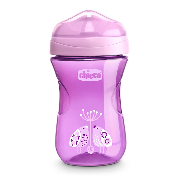 Chicco Rim Spout Trainer Sippy Cup, 9 Months+, Purple, 9 Ounce