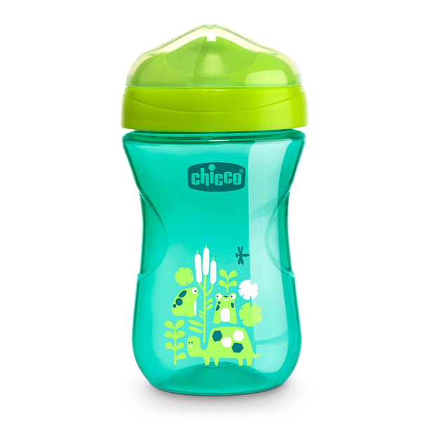 Chicco Rim Spout Trainer Sippy Cup, 9 Months+, Teal, 9 Ounce