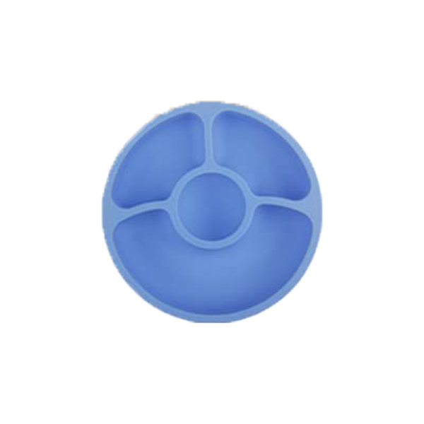 Silicone Divided Toddler Baby Plates – Silivo, Blue