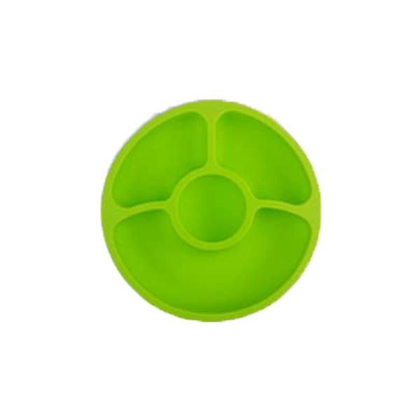 Silicone Divided Toddler Baby Plates – Silivo, Green