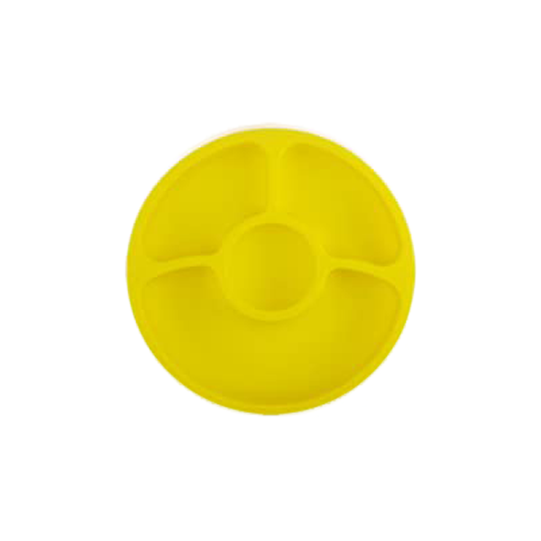 Silicone Divided Toddler Baby Plates – Silivo, Yellow