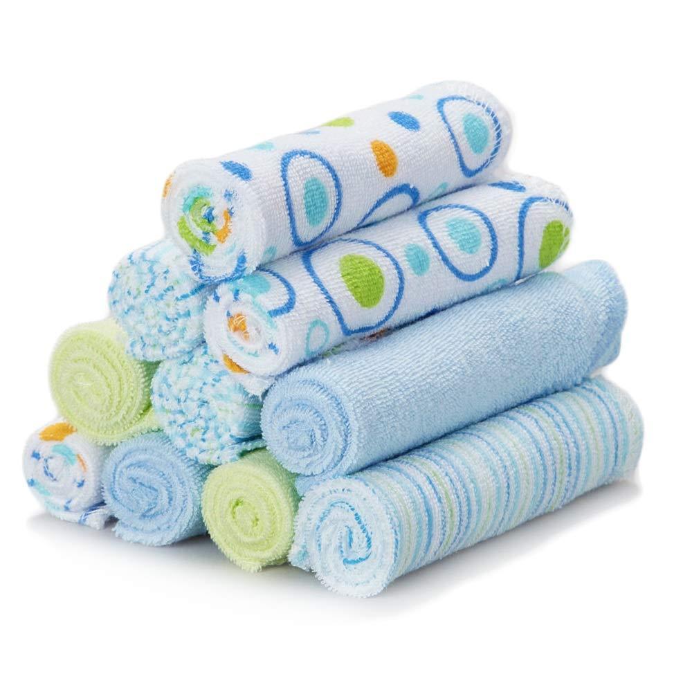 Spasilk 10 Pack Soft Terry Bath Washcloths – Unisex