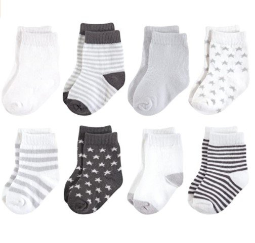 Touched by Nature Unisex Baby Organic Cotton Socks Light Brown, Gray